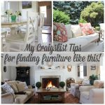 Believe it or not I found all this furniture on Craigslist! Stop by to see my tips for scoring this best furniture finds. #craigslist http://lehmanlane.net