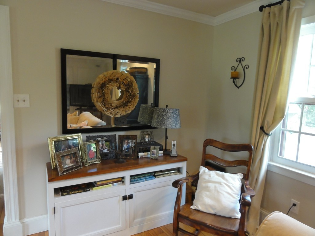 living room refresh - console mirror