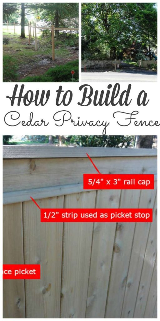 Sharing how to build a cedar provacy fence - #fence #diy http://lehmanlane.net