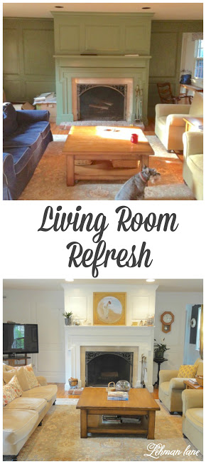 Ahhh! the power of paint! Come see how we completely transformed the look of the living room in our old farmhouse with just a can of paint & a few 2nd hand pieces!