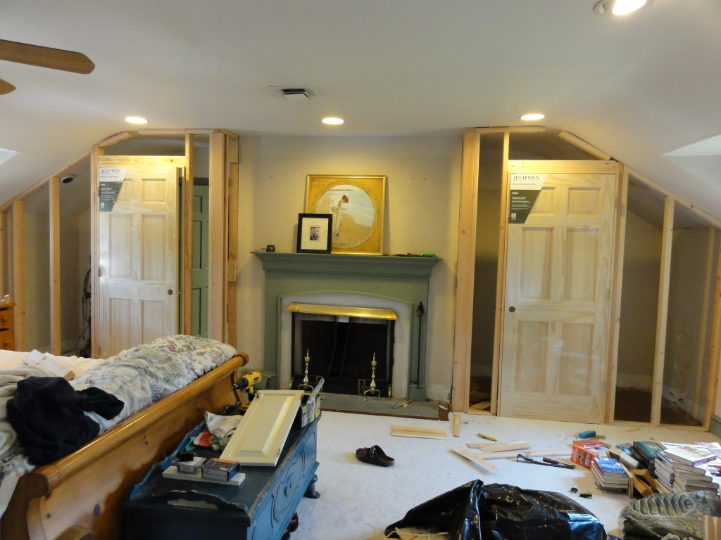 Master Bedroom Before - building the closets