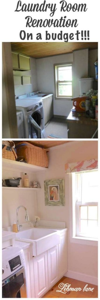If you are looking to renovate your laundry and don't have a big budget, stop by to see our laundry room renovation on a budget! #laundryroom #diy http://lehmanlane.net