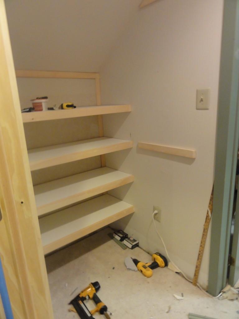 Custom Closets on a Budget- building shelves