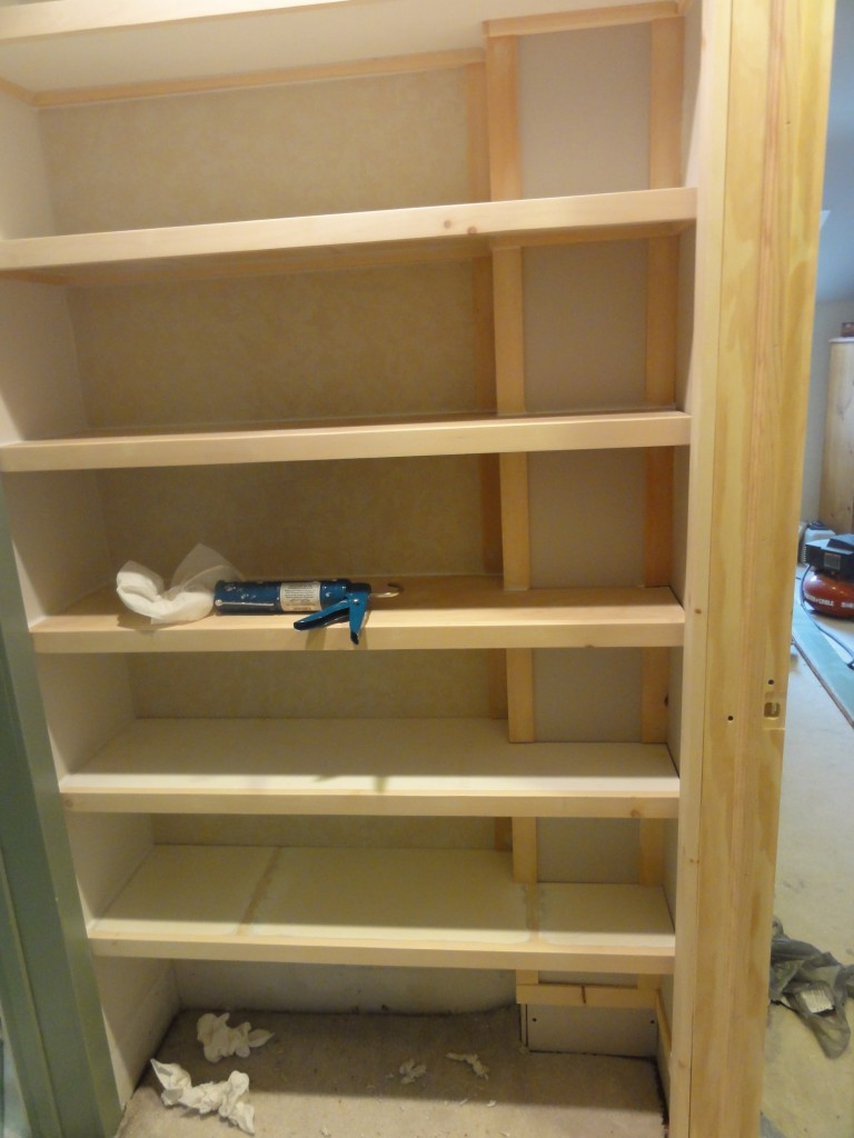 Custom Closets on a Budget - building the shelves