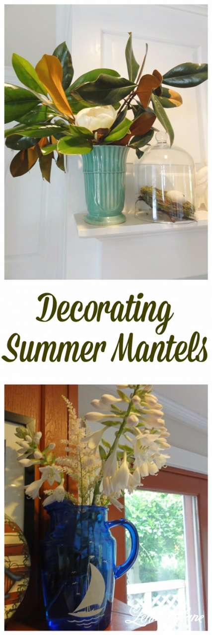Don\u0027t forget to Pin my Decorating Fireplace Mantels for Summer!