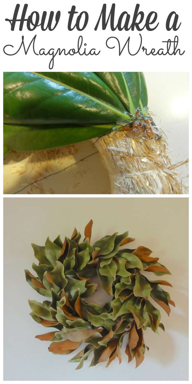 DIY - Magnolia Wreath - Sharing how to make a wreath out of dried or fresh magnolia leaves! #wreath #diy http://lehmanlane.net