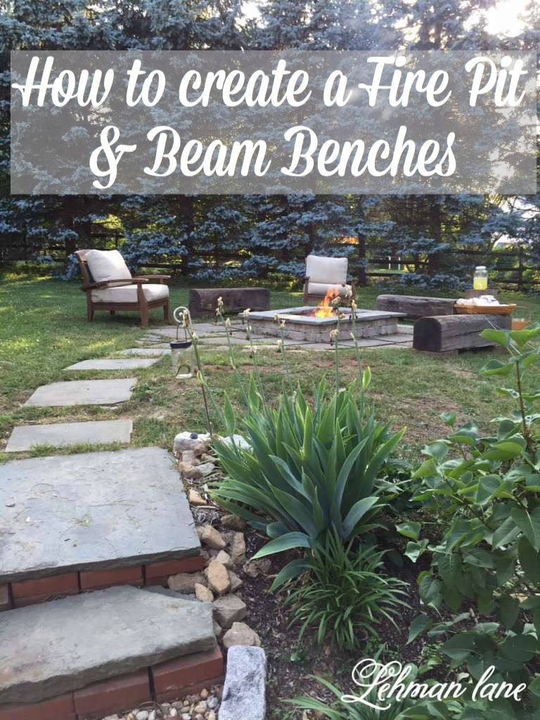 We doesn't love an outdoor fire? Come check out how we created a stone patio firepit and beam benches!