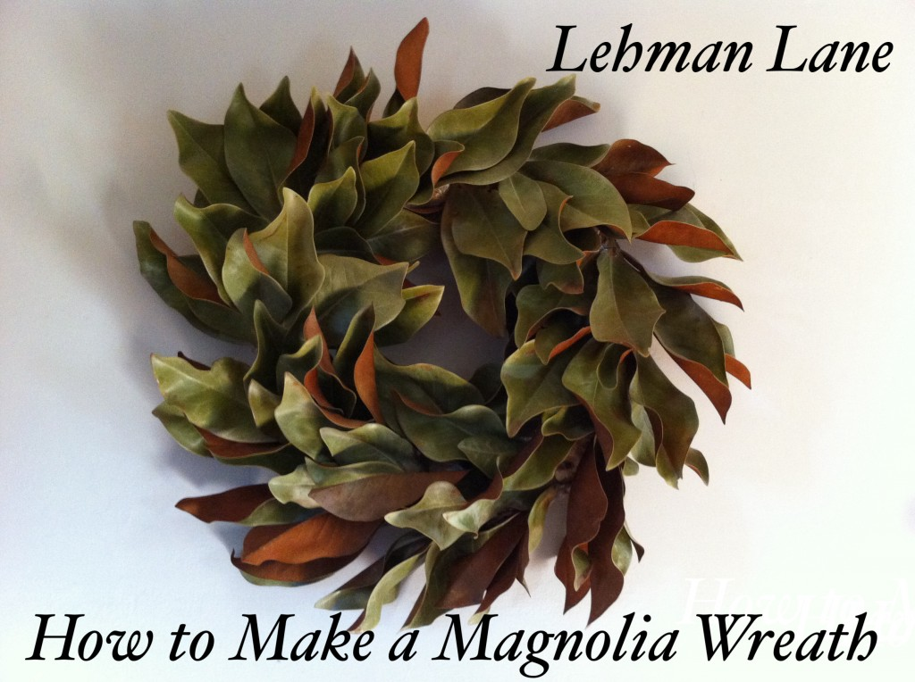 DIY How to Make a Wreath using Dried Magnolia or Fresh ...