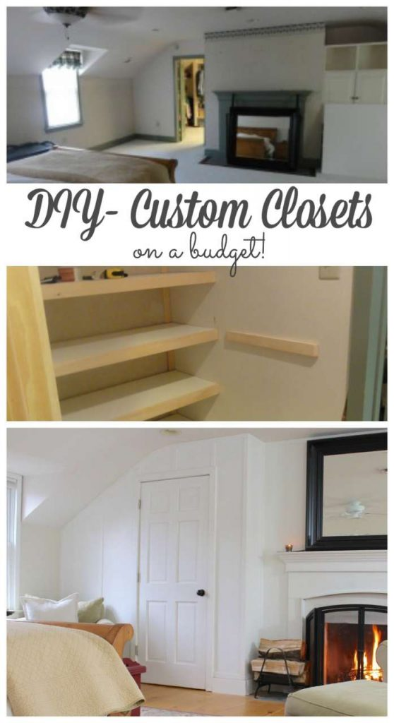 DIY custom closets on a budget #diy #closets http://lehmanlane.net