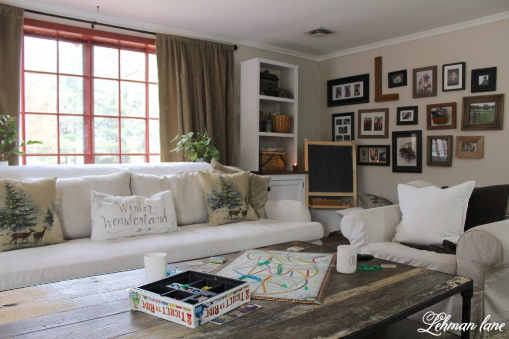 How to create a gallery wall in the family room