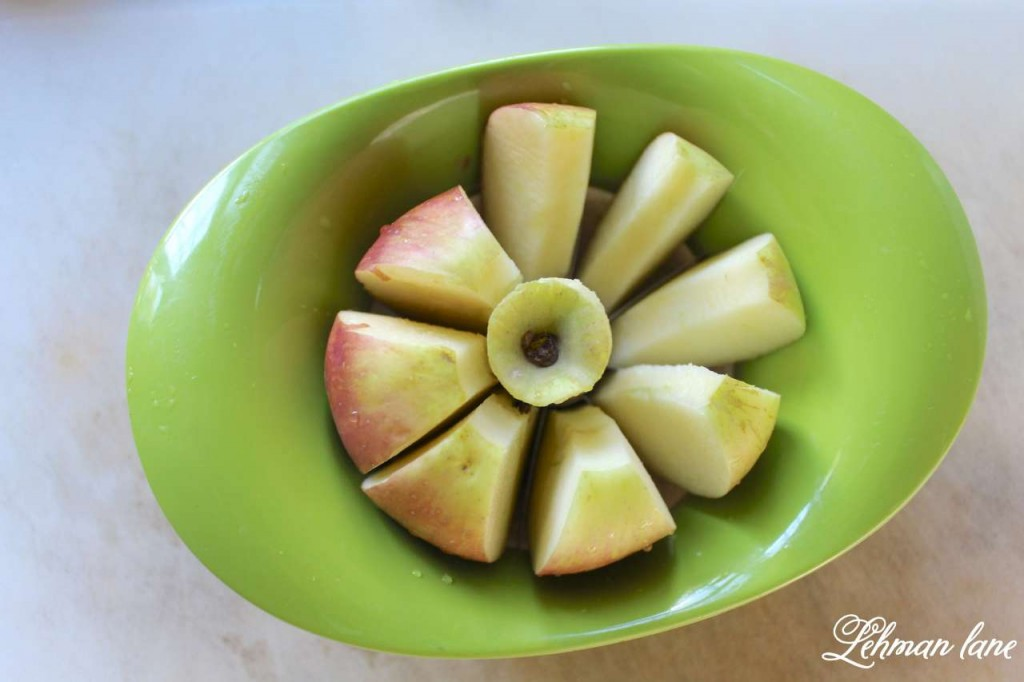 homemade applesauce recipe - coring apples