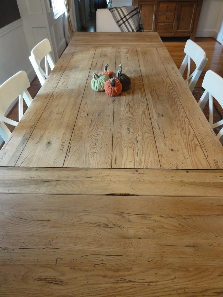 how to refinish a table - farmhouse table - restoration hardware hack