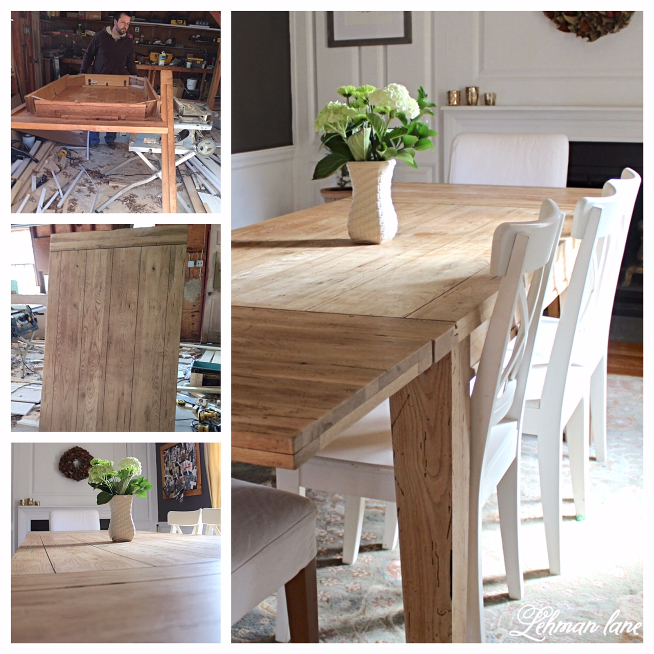 DIY Farmhouse Table...Restoration Hardware Inspired Farmhouse Table    Lehman Lane