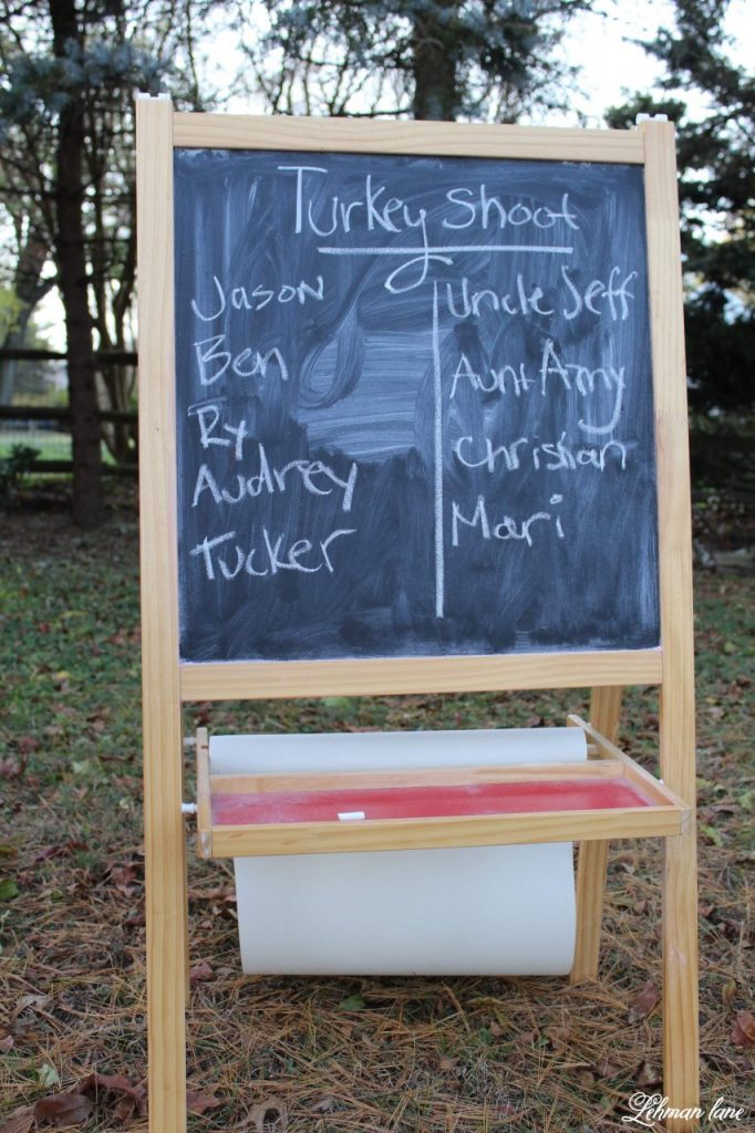 Thanksgiving Turkey Shoot - Today I am sharing one of our family's FAVORITE traditions, a Thanksgiving Turkey shoot. If you are looking for a fun idea to get your kids out of the house so you can finish cooking, THIS IS IT!!! #turkeyshoot #thanksgiving #thanksgivingtradition http://lehmanlane.net