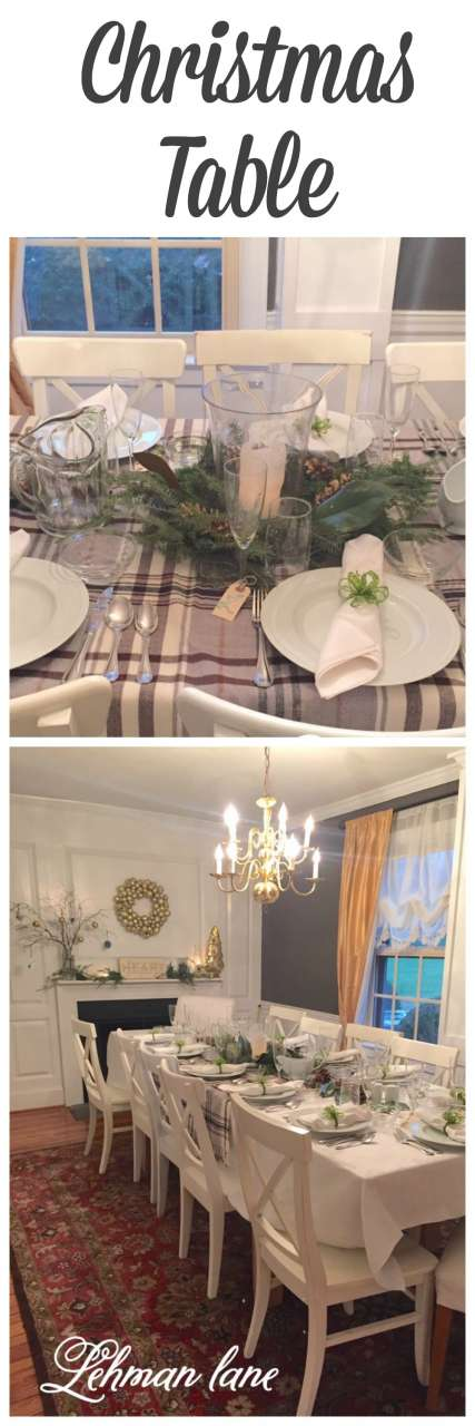 Sharing how I set our Christmas table for a fun and formal Christmas dinner with friends! #christmas http://lehmanlane.net