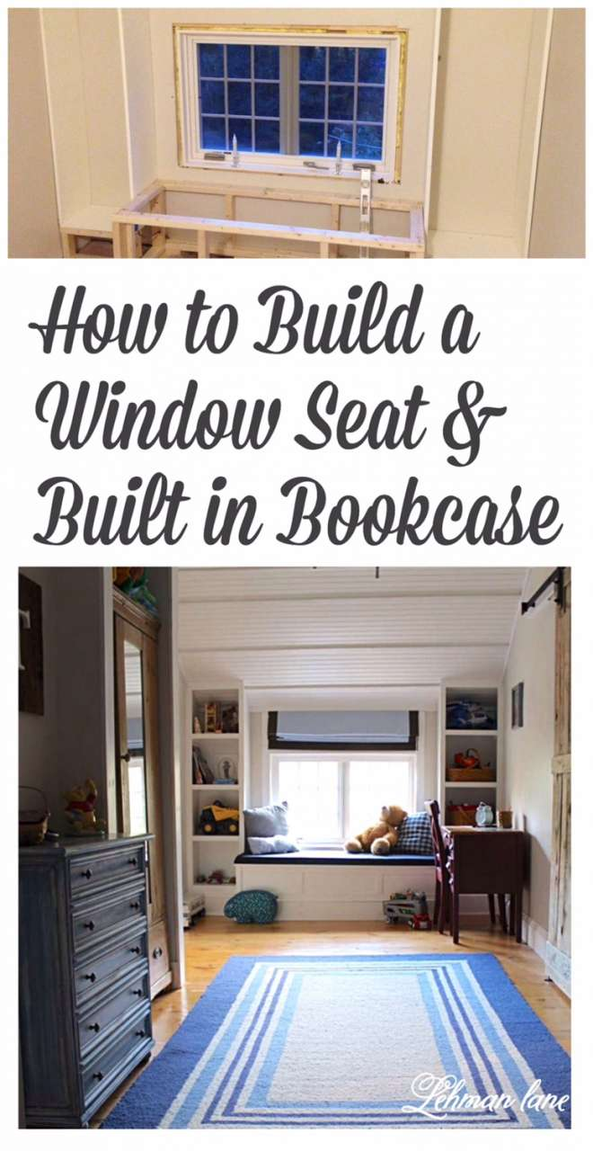 dont forget to pin how to build a window seat and built in bookcases - Window Seat With Bookshelves