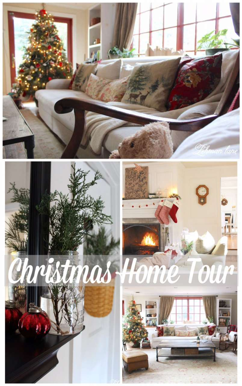 I decorated my house for Christmas!  I hope you will stop by to see our farmhouse Christmas home tour!