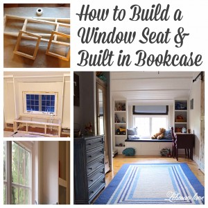 Come check out how we created a window seat and a built in bookcase