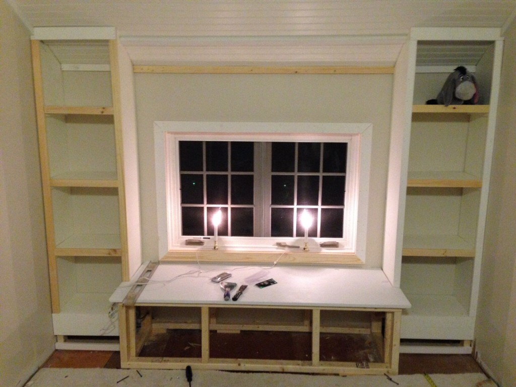 Admirable Diy How To Build A Window Seat And Built In Bookcases Download Free Architecture Designs Scobabritishbridgeorg