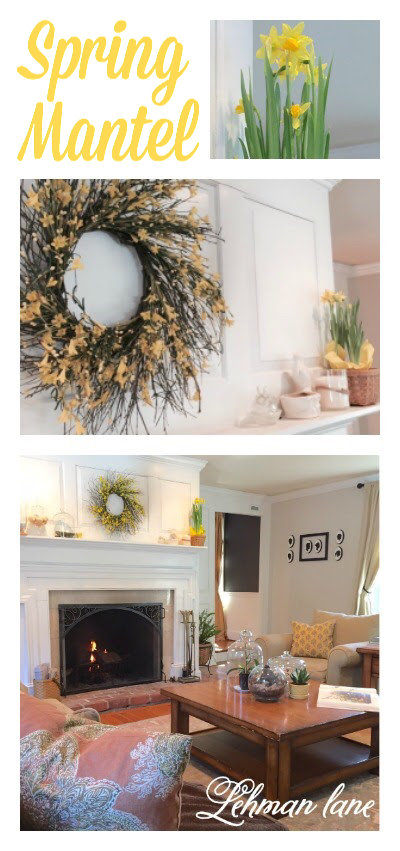 I decorated my mantel for Spring completely inspired by the color yellow!!!