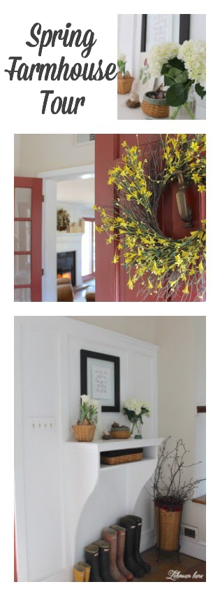 I decorated our old farmhouse for Spring! Come check out our farmhouse Spring Tour!
