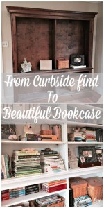 We found this gorgeous bookcase on the side of the road and brought it home to be transformed!!!