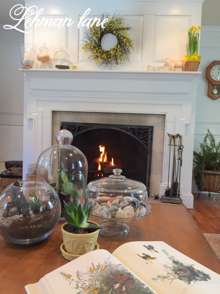 Easter fireplace mantel decorating ideas