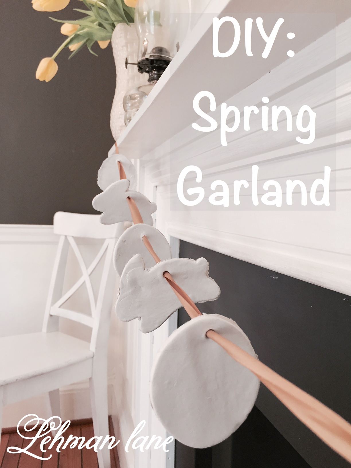 Sharing how to make a Spring Garland craft #diy #spring http://lehmanlane.net