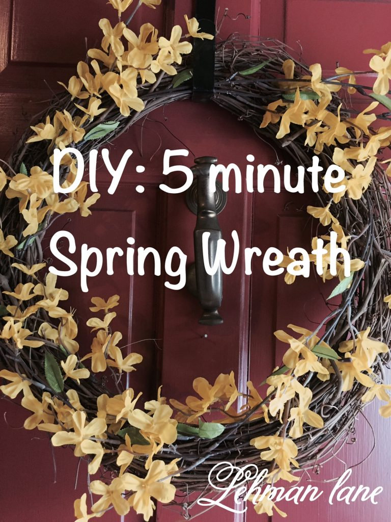 Come check out how I made this super simple Spring Wreath in 5 minutes!