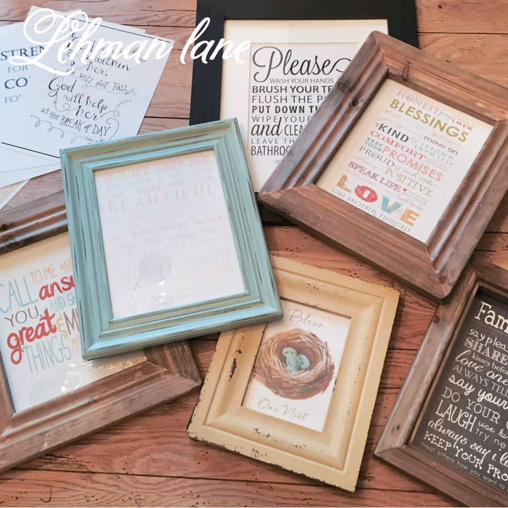Decorating with Free Printables