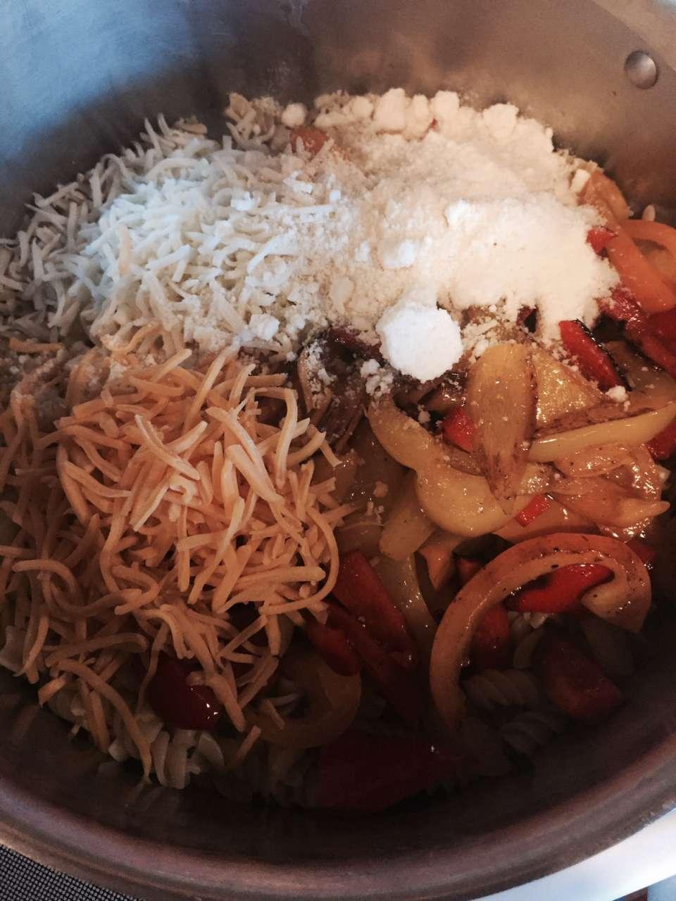Three Cheese Pepper Pasta Recipe