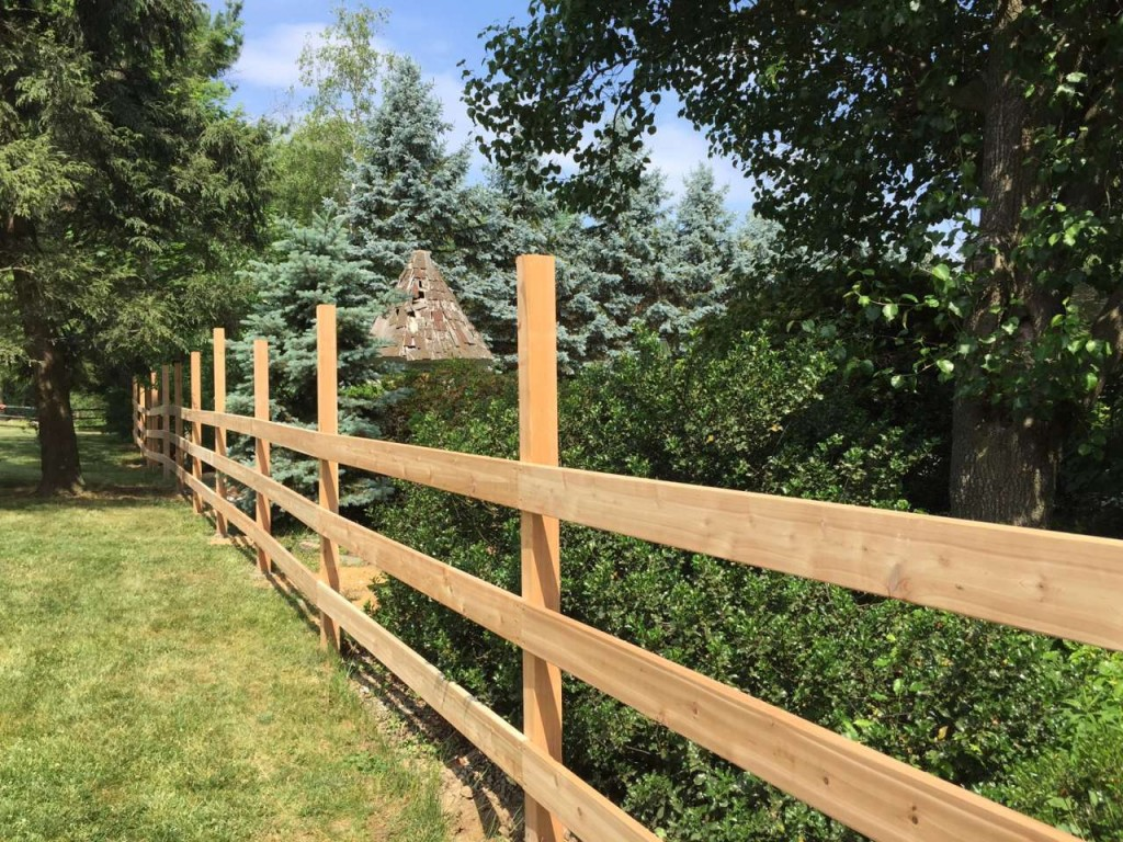 Cedar Post and Rail Fence