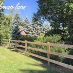 DIY: Cedar post rail fence