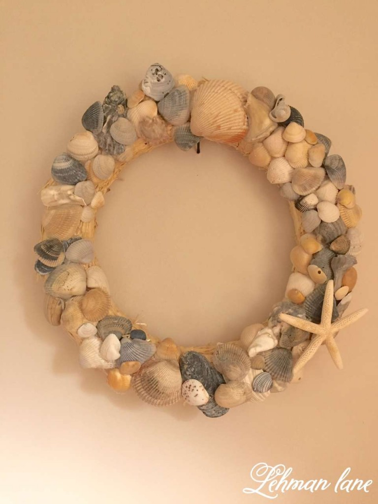 How to make a Seashell Wreath