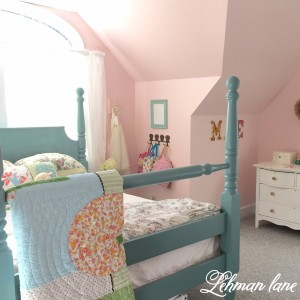 Our Girl's Room - Part II - Four Poster Bed Red