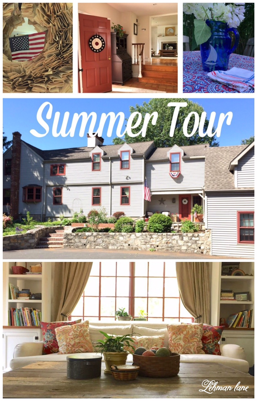 We decorated our house for summer! Stop by for simple summer decorating ideas from our summer home tour! http://lehmanlane.net