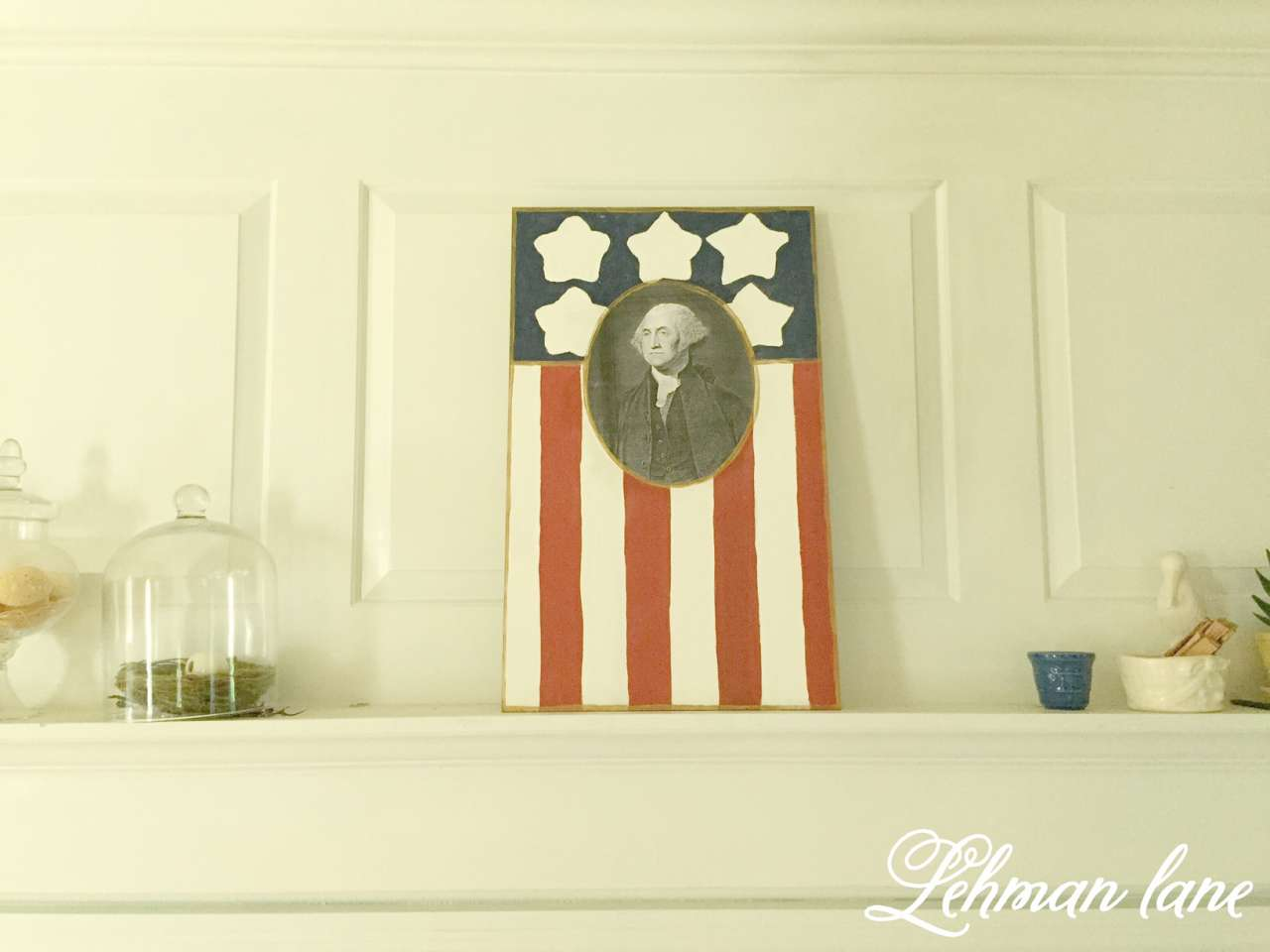 Our 4th of July - Patriotic Sign DIY - Lehman Lane