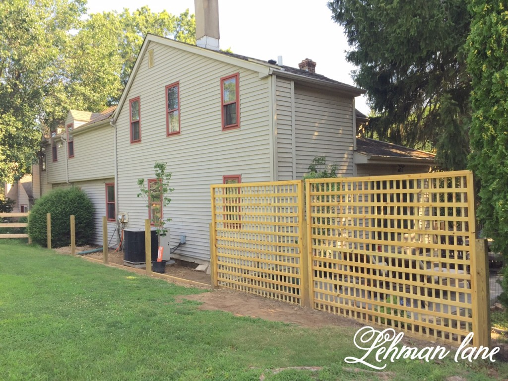 DIY: Square Lattice Fence for Privacy