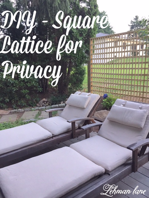 We added this lattice privacy fence off our kitchen deck to give us privacy