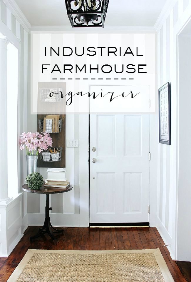 DIY-Industrial-Farmhouse-Organizer-Project