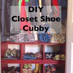 DIY Closet Shoe Cubby