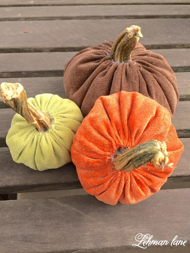 How to Make Velvet Pumpkins for under $2