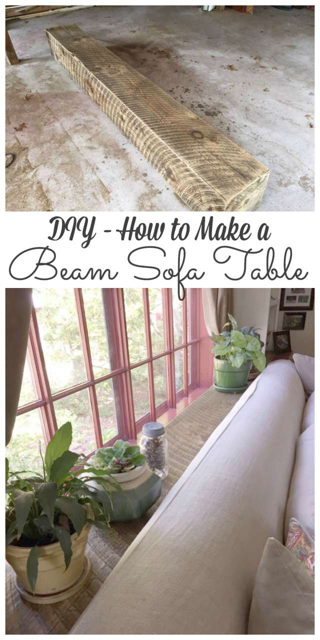 DIY - How to Make a Beam Sofa Table #diy http://lehmanlane.net