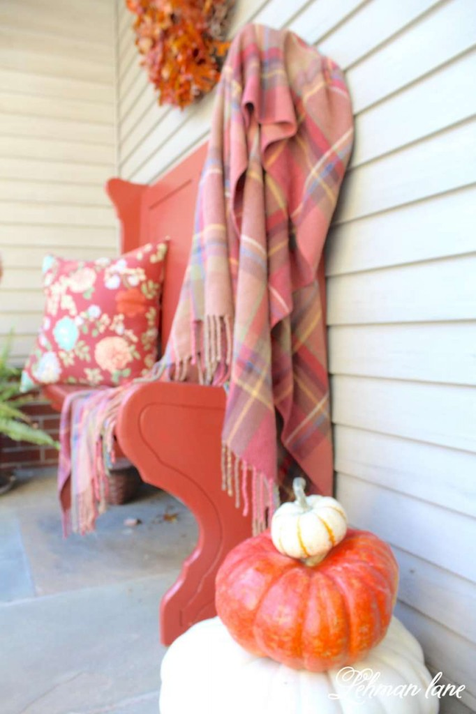 Fall home tour / entryway bench / pumpkin