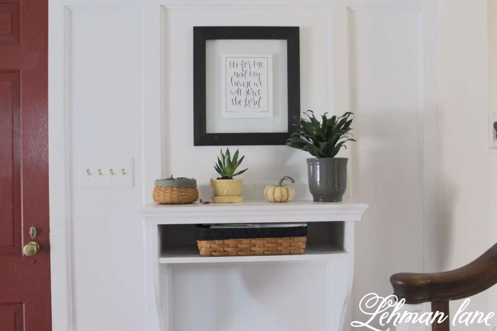 Foyer / Entryway Table / fall home tour