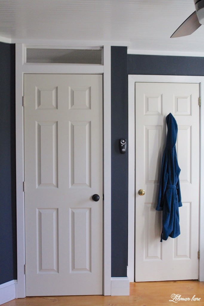 We changed the doorway in our son's room to make the hallway and bedroom flow better.