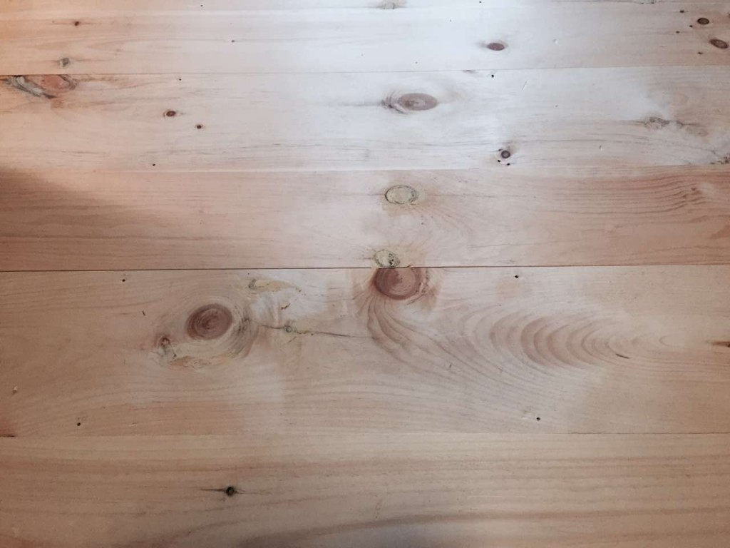 DIY Wide Pine Floors & a Review, face nail