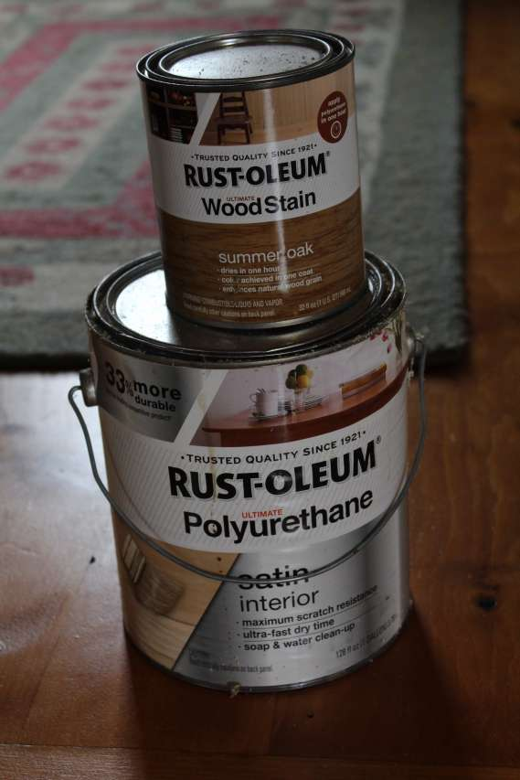 DIY Wide Pine Floors & a Review, summer oak rust-oleum, polyurethane