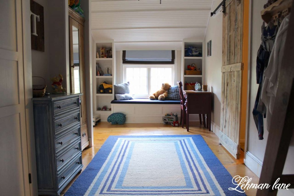 Check out how we changed our master closet into a boys bedroom. DIY Wide Pine Floors & a Review Bo