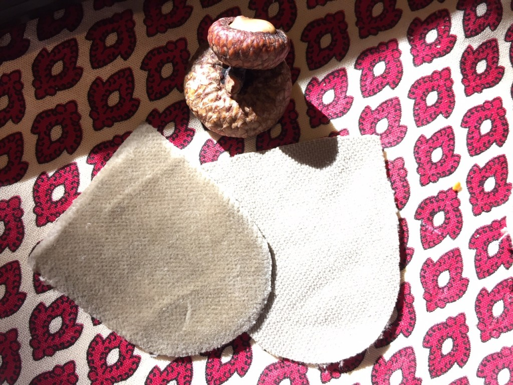 How to Make a Velvet Acorn, fall craft, thanksgiving decor